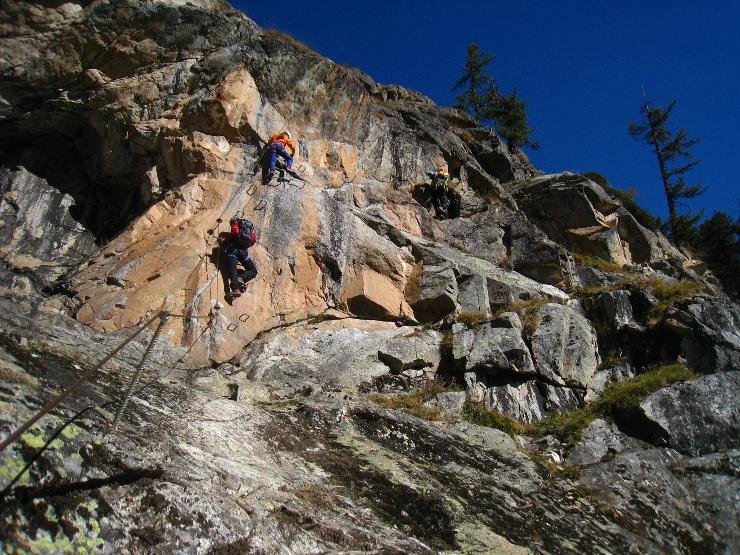 Klettersteig La Resgia : La resgia pontresina .