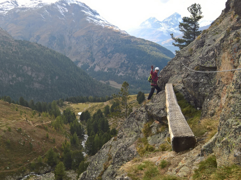 Klettersteig La Resgia : Pontresina klettersteig la resgia i ii
